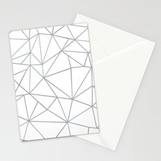 Ab Outline 2 Grey on White Stationery Cards