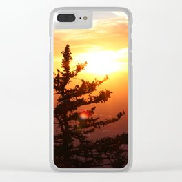 Sunset from the Sandias Clear iPhone Case