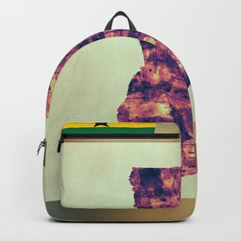 Ghana Map with Flag Backpack