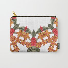 Embroidered Pattern Carry-All Pouch