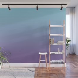 Pantone Chive Blossom Purple 18-3634 and Limpet Shell Blue 13-4810 Ombre Gradient Blend Wall Mural