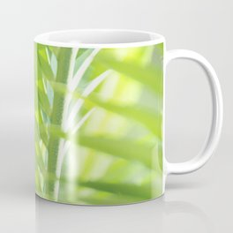 Palm leaves in summer light Coffee Mug