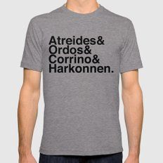 Houses Mens Fitted Tee Tri-Grey LARGE