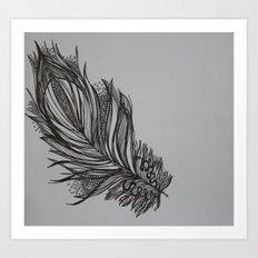 Zen feather Art Print