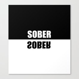 sober mirrored effect quote Canvas Print