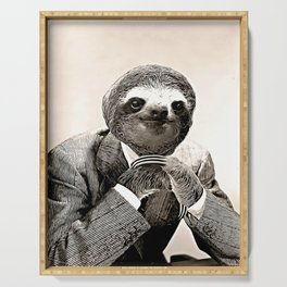 Gentleman Sloth with Assorted Pose Serving Tray