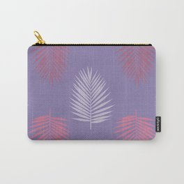Ultra violet tropical palm leaves seamless pattern. Vector illustration. Carry-All Pouch