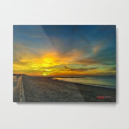 Sunset in Southern Spain Metal Print