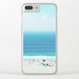 Elevated View Of Beach Of A Summer Day Clear iPhone Case