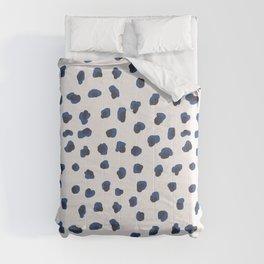 Handmade animal print blue shades Comforters