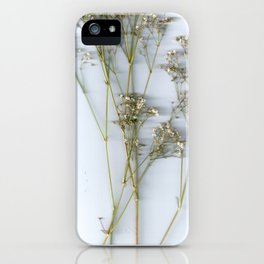 Dry Whites / Flowers iPhone Case