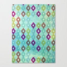 Santa Fe Dreams Geometric Aztec Colorful Design Canvas Print