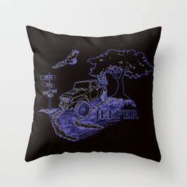 JEEPER Throw Pillow