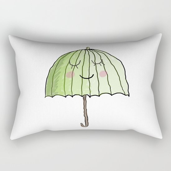 cute UMBRELLA Rectangular Pillow