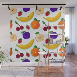 happy fruits and berries Wall Mural