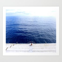 Monaco Calm Art Print