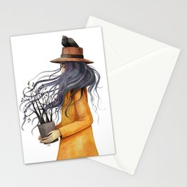 Anime girl Stationery Cards