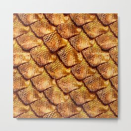 3d abstract snake skin, reptile scale Metal Print