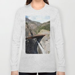 Bear Creek Falls in the Uncompahgre Gorge - Vertical Panorama No. 2 of 2 Long Sleeve T-shirt