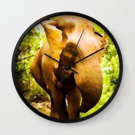 African Savanna Elephant | Watercolor Painting Wall Clock