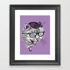 The Upper East Side Dagger Cats Framed Art Print