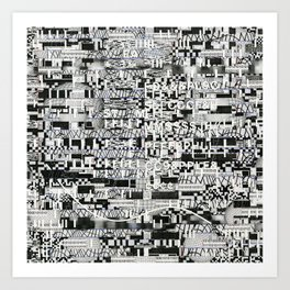 Confused Images Behind the Interface (P/D3 Glitch Collage Studies) Art Print
