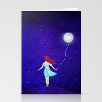 redhead Stationery Cards featuring redhead by Nancy Woland