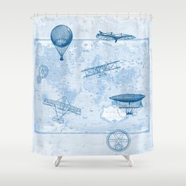 A Brief History of Flight Shower Curtain