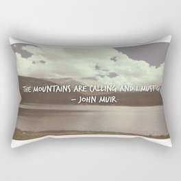 Mountains are Calling Rectangular Pillow