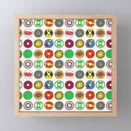 Superhero Donuts Framed Mini Art Print