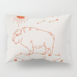 Heritage Buffalo Red Pillow Sham