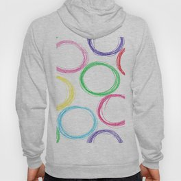 Seamless pattern background with colored pencil circles Hoody