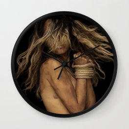 Tied up Blonde Wall Clock