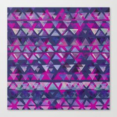 Pink and Purple Triangles Canvas Print