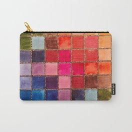 Rainbow Tiles Golden Mosaic Watercolor Palette Carry-All Pouch