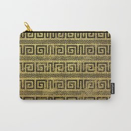 Vintage Gold  Greek Meander Pattern Carry-All Pouch