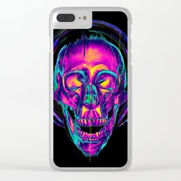 Trippy Skull Clear iPhone Case