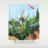 bugs Shower Curtains featuring Bugs by CWaldron