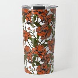Autumnal flowering of poppies I Travel Mug