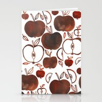 oana befort Stationery Cards featuring NOT GRANNY'S APPLES by Oana Befort