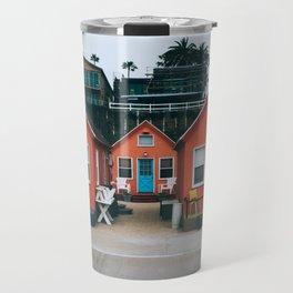 Beach Bungalows Travel Mug