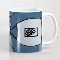 vans Mugs featuring blue Vans shoes iPhone 4 4s 5 5s 5c, ipod, ipad, pillow case and tshirt by Three Second