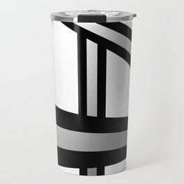 Bold Metallic Beams - Minimalistic, abstract black and white artwork Travel Mug