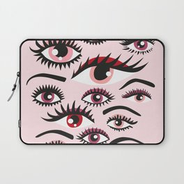 crazy lashes shiny eyes Laptop Sleeve