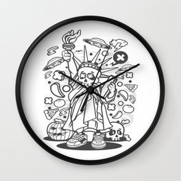 Skull Libertyfor animated characters comics and pop culture lovers Wall Clock