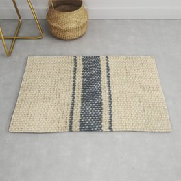 Vintage French Farmhouse Grain Sack Rug