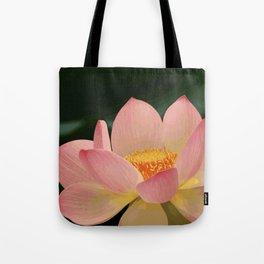 Peaceful Zen Garden Pink Lotus Floral Tote Bag