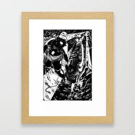 Fishmonsters in Love Framed Art Print