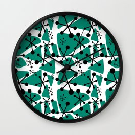 Retro futurism Wall Clock