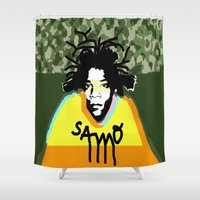 basquiat Shower Curtains featuring Jean Michel Basquiat by SNACKONART